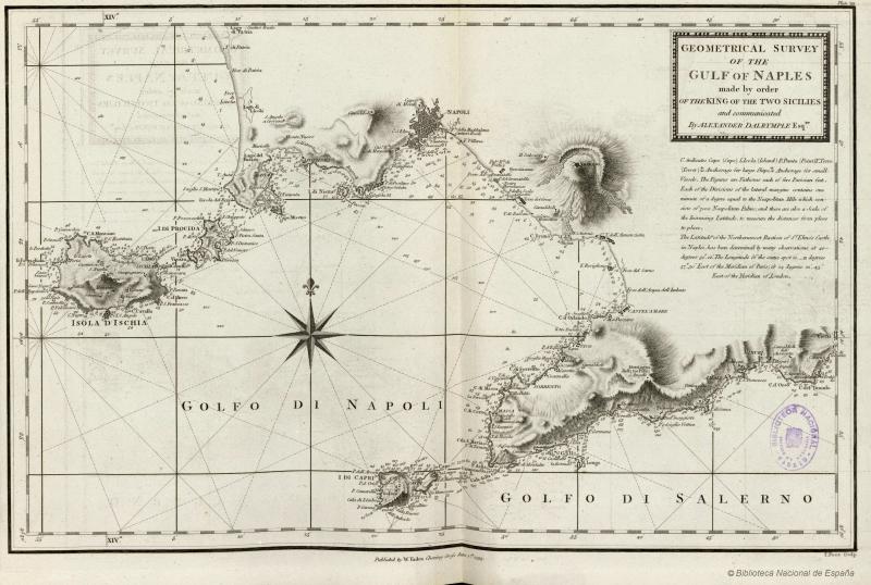 1 Cartografia del Golfo di Napoli da Le Petit Neptune del 1793 - vesuvioweb 2014