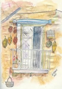 1 il balcone e la dispensa di casa - A Langella - vesuvioweb 2013
