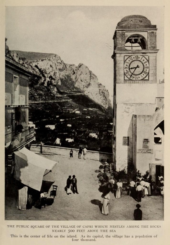 11 The National Geographic Magazine 1888 - Capri, la Piazzetta con il Campanile - vesuvioweb 2016