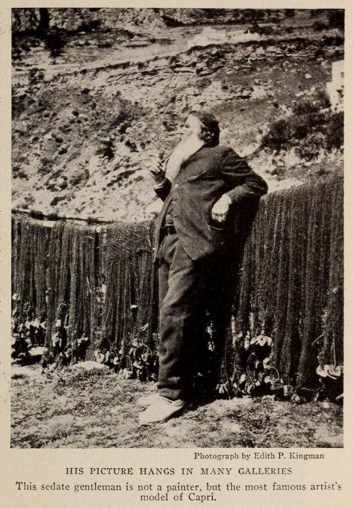 16 The National Geographic Magazine 1888 - Capri, reti e pescatore che fuma a Marina Grande - vesuvioweb 2016