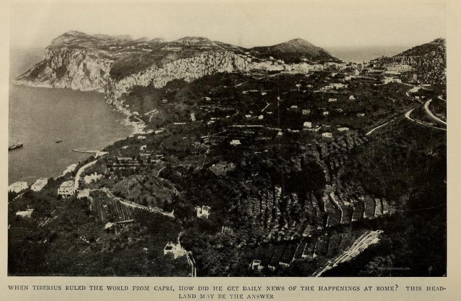 17 The National Geographic Magazine 1888 - Capri, panorama dal Monte Solaro, con Marina Grande e Monte di Tiberio - vesuvioweb 2016