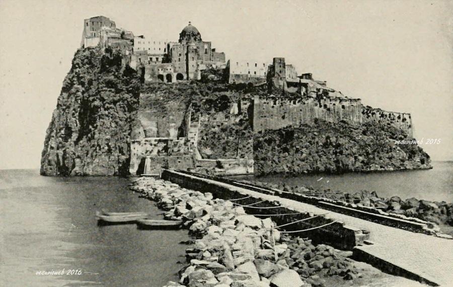 19 Ischia il Castello Aragonese - John L Stoddard's lectures 1909 - vesuvioweb 2016