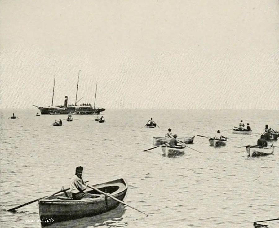3 Capri barche nel porto - John L Stoddard's lectures 1909 - vesuvioweb