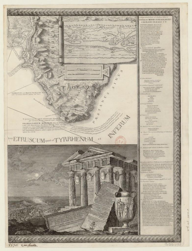 Cardon - Cartografia della Penisola Sorrentina 1765 - Biblioteca Nazionale di Francia