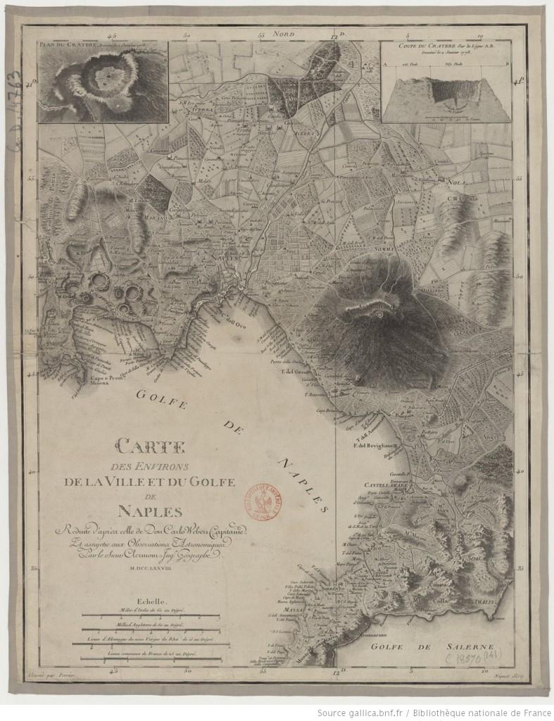 Carta del Golfo di Napoli e del Vesuvio del 1778