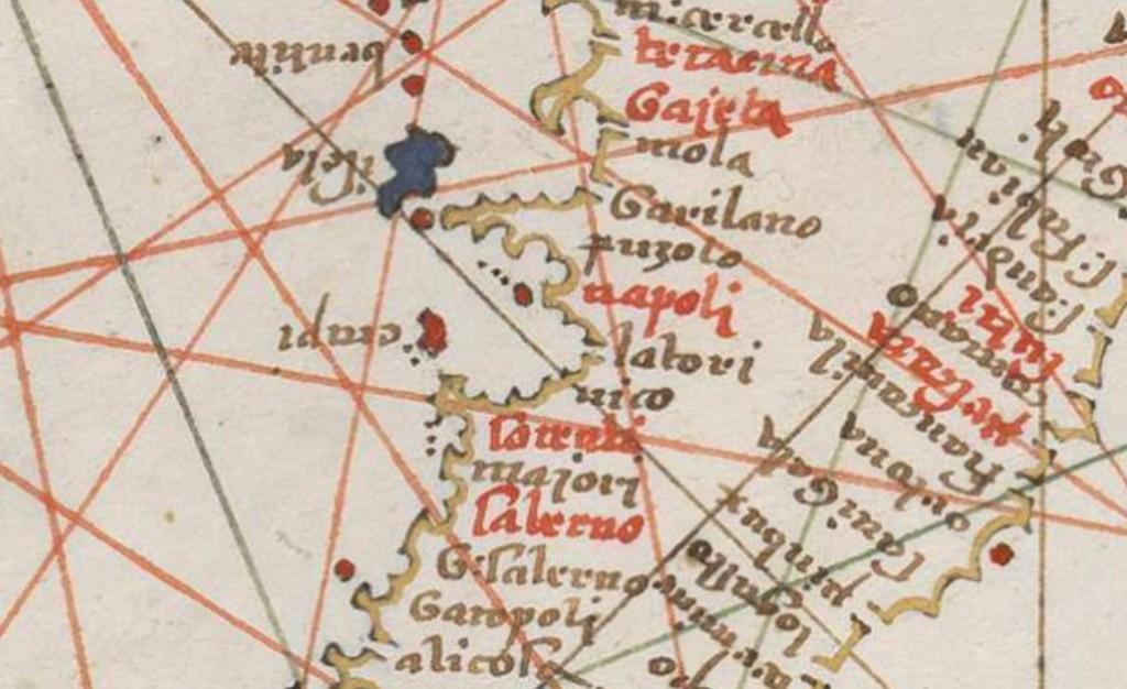 Cartografia napoletana di Joan Martines 1570 - Da BNE