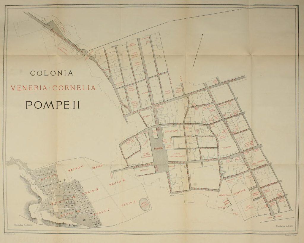 Descrizione della mappa do Pompei del 1875 - vesuvioweb 2017
