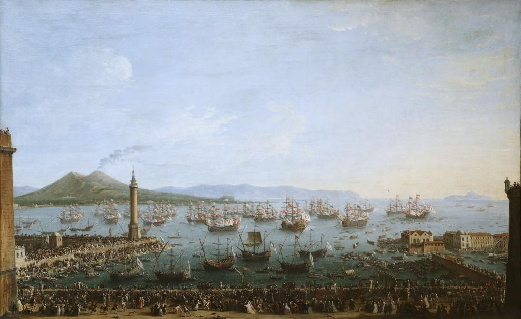 Napoli 1759 - Carlo III lascia il porto di Napoli - Capodimonte