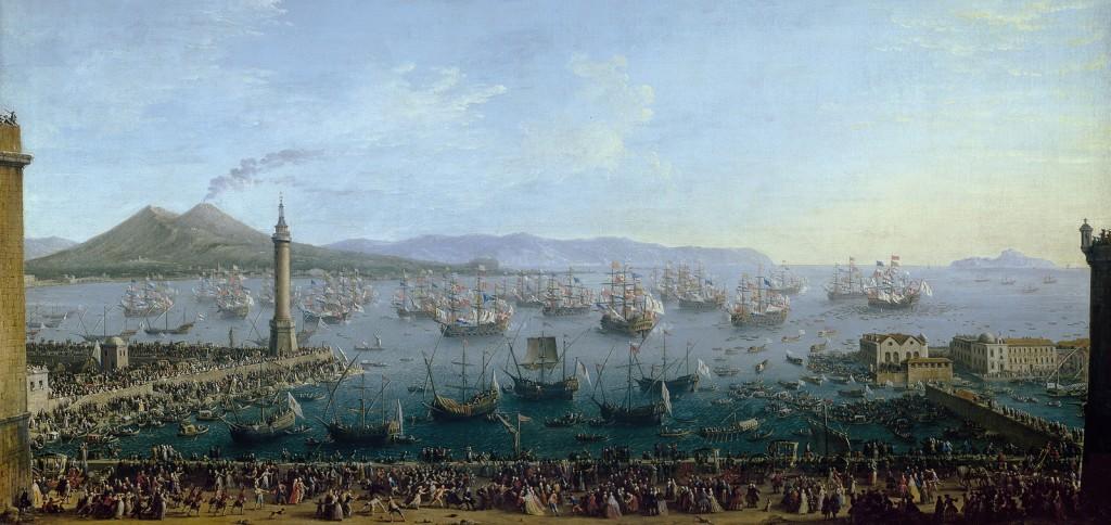 Napoli 1759 - Carlo III lascia il porto di Napoli - Prado