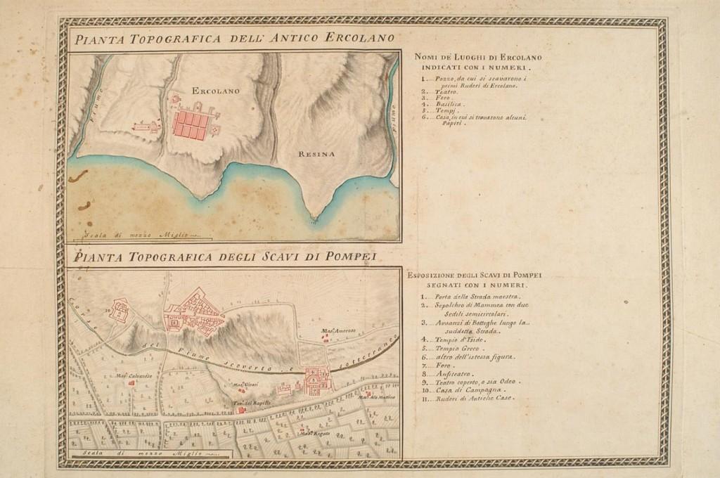 Pianta Topografica dell'Antico Ercolano - Pianta Topografica degli Scavi di Pompei