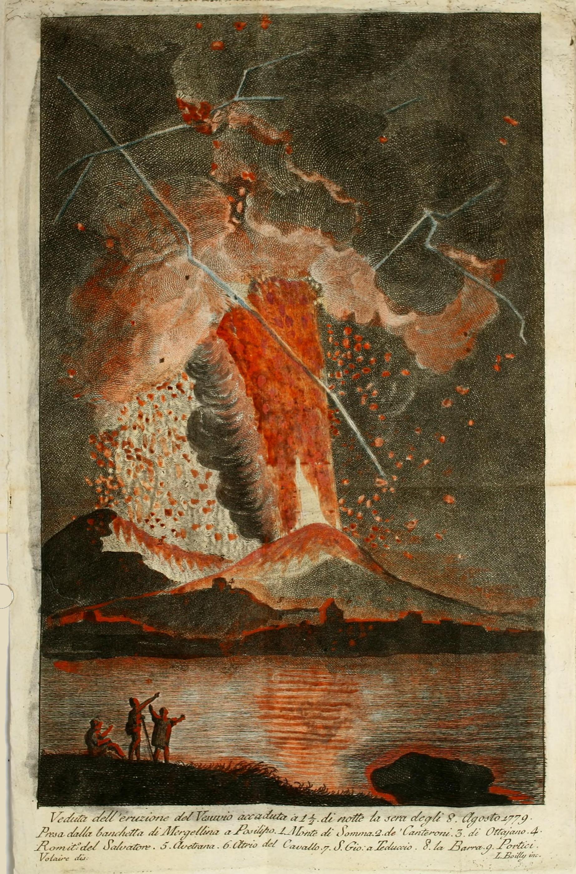 Leruzione Del Vesuvio Del 1779 Stampa Ad Alta Definizione