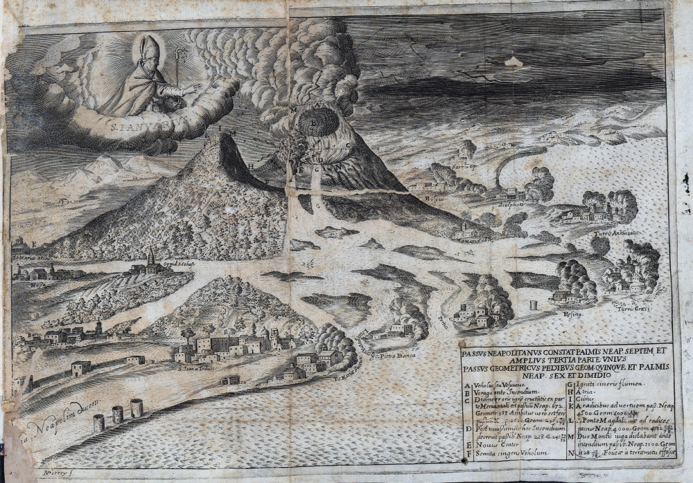 Vesuvio 1631 Incisione di Perry -1-