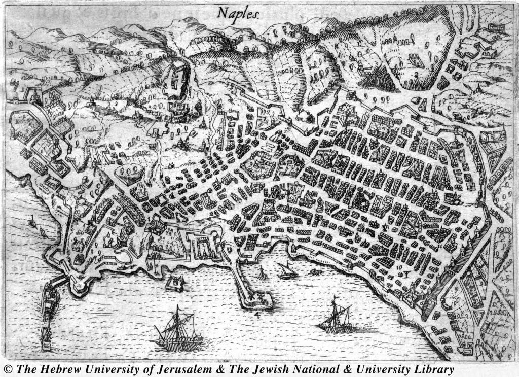 La cartografia di Napoli nel 1615. Opera di Henry Beauvau