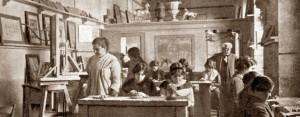La Scuola del Corallo e del Cammeo a Torre del Greco nel 1914- Archivio Vesuvioweb
