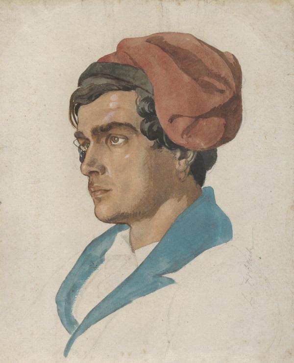 Pescatore di Capri. Tempera di Lorenz Frlich dal Metropolitan Museum of Art