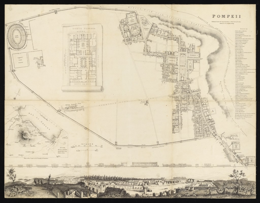 pompei map - 1832